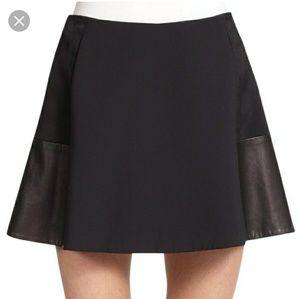 NEW Rag & Bone Montrose leather A-line Mini skirt
